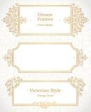 Dekorativer Rahmen des Vektors im viktorianischen Stil Lizenzfreie Stockbilder