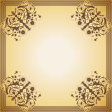 Dekorativer Rahmen im Stil der Weinlese Stockbild