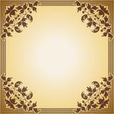 Dekorativer Rahmen im Stil der Weinlese Stockfoto