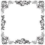 Dekorativer Rahmen, Rahmen für den Text im Schwarzweiss--vect Stockfotos