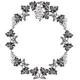 Dekorativer Rahmen, Rahmen für den Text Schwarzweiss Stockfoto