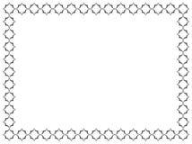 Dekorativer Rahmen Rechteckige Form Geometrisches Muster im Schwarzen Lizenzfreie Stockfotos