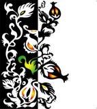 Dekorativer Rand mit Blumenelementen lizenzfreie abbildung