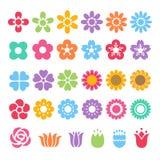 Dekorativer Satz der Blume Stockbilder