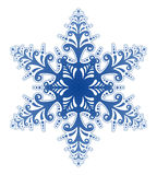 Dekorativer Schneeflocke-Verzierung-Vektor lizenzfreie abbildung