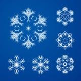 Dekorativer Schneeflocken-Vektor-Satz Lizenzfreie Stockfotografie