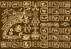 Dekorativer Stammes- Hintergrund Lizenzfreies Stockfoto