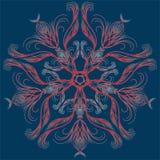 Dekorativer Stern Runde Verzierung Ethnische Mandala stock abbildung
