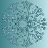 Dekorativer Stern Runde Verzierung Ethnische Mandala vektor abbildung