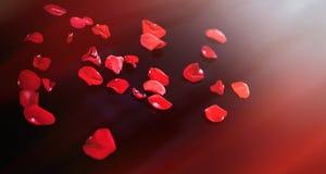 Dekorativer stilisierter Hintergrund mit rosafarbener Blume des roten Blumenblattes Lizenzfreie Stockfotos