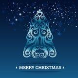 Dekorativer stilisierter Weihnachtshintergrund Stockfotografie