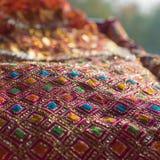 Dekorativer Stoff benutzt während der hindischen Zeremonien lizenzfreie stockfotos