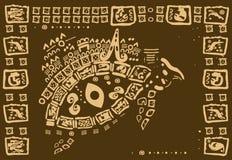 Dekorativer triabal Hintergrund Stockfoto