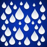 Dekorativer Tropfen des nahtlosen Musters auf einem blauen Hintergrund. Vektor lizenzfreie abbildung