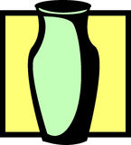 Dekorativer Vase Stock Abbildung
