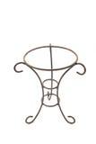 Dekorativer Vase der Schmiedeeisentopfpflanzen Stockbild