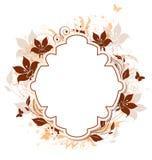 Dekorativer Vektorhintergrund mit Blumen Lizenzfreies Stockbild