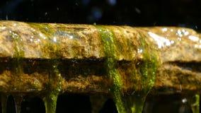 Dekorativer Wasserfall mit Steinen stock footage