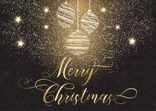 Dekorativer Weihnachtshintergrund Lizenzfreies Stockbild