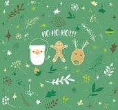 Dekorativer Weihnachtshintergrund Stockfotografie