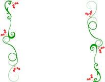Dekorativer Weihnachtsrand Stockfotografie