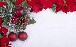 Dekorativer Weihnachtsrand Stockfoto