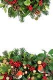 Dekorativer Weihnachtsrand Stockbild