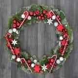 Dekorativer WeihnachtsWreath Stockfotografie