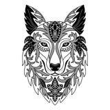 Dekorativer Wolf Stockbilder