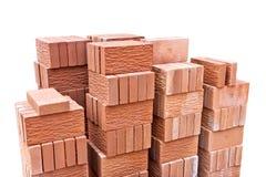 Dekorativer Ziegelstein des roten Lehms Stockbilder