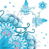 Dekoratives abstraktes Muster mit Rolle Stockbild