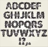 Dekoratives Alphabet Stockfoto