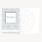 Dekoratives Blatt Papier mit orientalischem Design Stockfoto