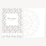 Dekoratives Blatt Papier mit orientalischem Design Lizenzfreies Stockfoto