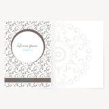 Dekoratives Blatt Papier mit orientalischem Design Stockbild