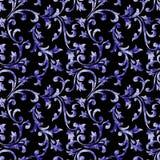 Dekoratives blaues Designmuster Stockbild