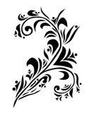 Dekoratives Blumenelement stock abbildung