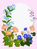 Dekoratives Blumenfeld lizenzfreie abbildung