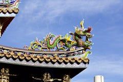 Dekoratives Dach des Chinatowns stockbild