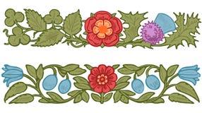 Dekoratives Design der Sammlung von Blumen und Stockfotos