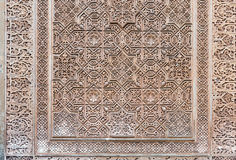 Dekoratives Design von Gilded Raum (Cuarto-dorado) in Alhambra g Lizenzfreie Stockfotos