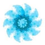 Dekoratives Element Dekorative Runde Weinleserüttler für Ihr Design Lizenzfreie Stockbilder
