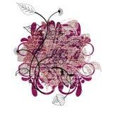 Dekoratives Element für das Herstellen von Valentinsgruß ` s Tagespostkarten lizenzfreie abbildung