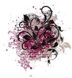 Dekoratives Element für das Herstellen von Valentinsgruß ` s Tagespostkarten stock abbildung