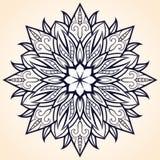 Dekoratives Element für Design Ethnisches Muster Runde Mandala von Linien Vektor I Lizenzfreies Stockfoto