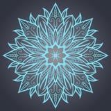 Dekoratives Element für Design Ethnisches Muster Runde Mandala von Linien Vektor I Stockfotografie