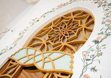 Dekoratives Element in Sheikh Zayed Grand Mosque Stockbild