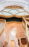 Dekoratives Element in Sheikh Zayed Grand Mosque Stockbilder