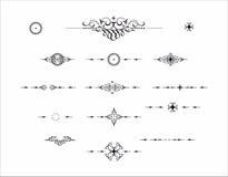 Dekoratives Elementteiler-Trennzeichenmuster Stockbilder