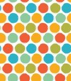 Dekoratives Farbenmuster mit gezogenen Kreisen Nahtloser heller Hintergrund vektor abbildung